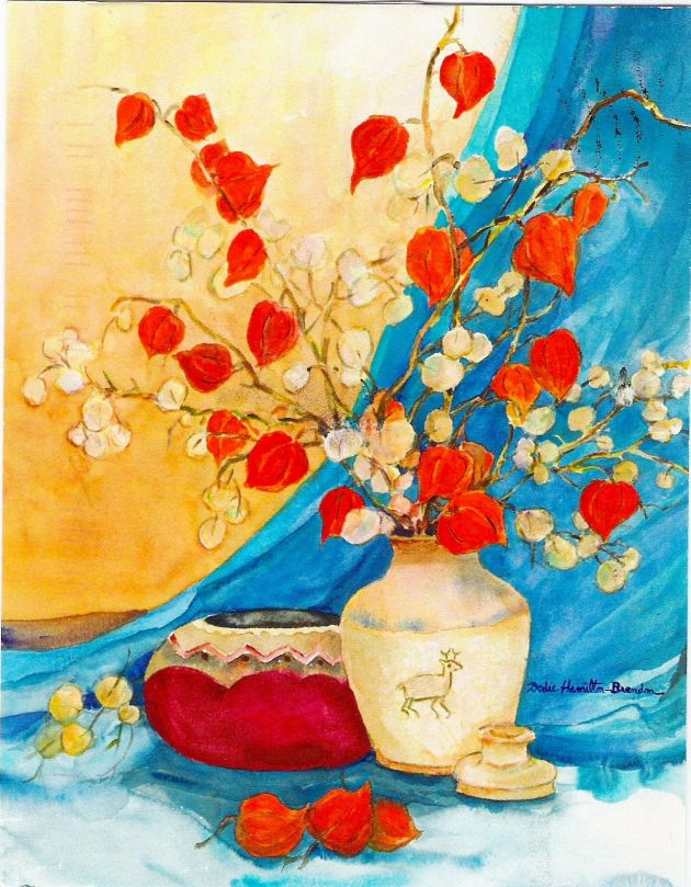 Watercolor by Dodie Hamilton.