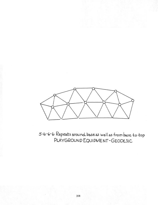 Drawing by Dodie Hamilton of the geometry of playground equipment.