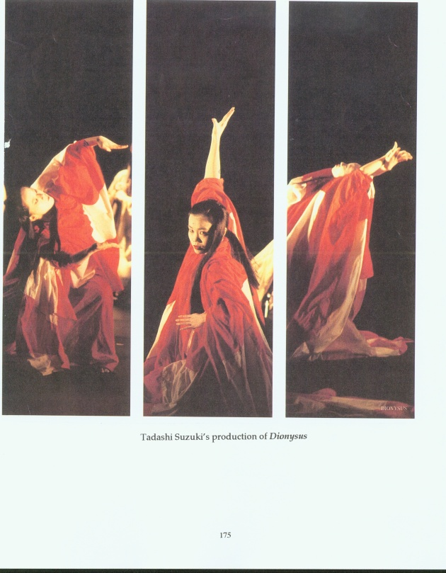 Photos from Tadashi Suzuki's Japanese production of Dionysus.