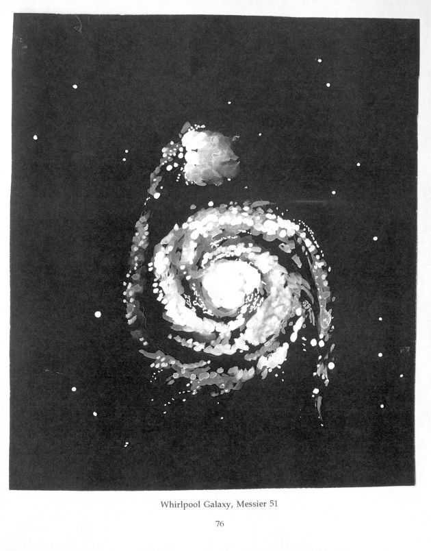 Drawing of Whirlpool Galaxy by Dodie Hamilton