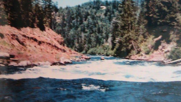 White Water Rapid on the Rogue River. At low summer flows, the canyon becomes one long rapid with lots of rocks to dodge.