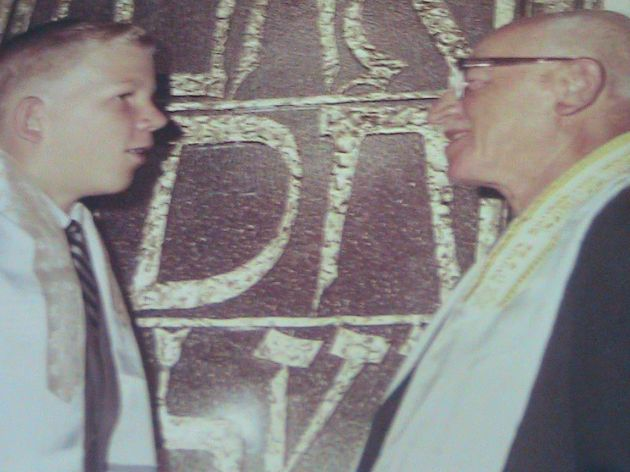 Grandpa Johnny and I at my Bar Mitzvah.