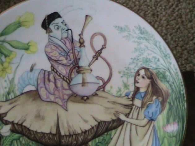 Alice and the Caterpillar plate