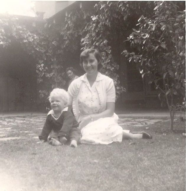 Mom and I celebrating Mother's Day 1954.