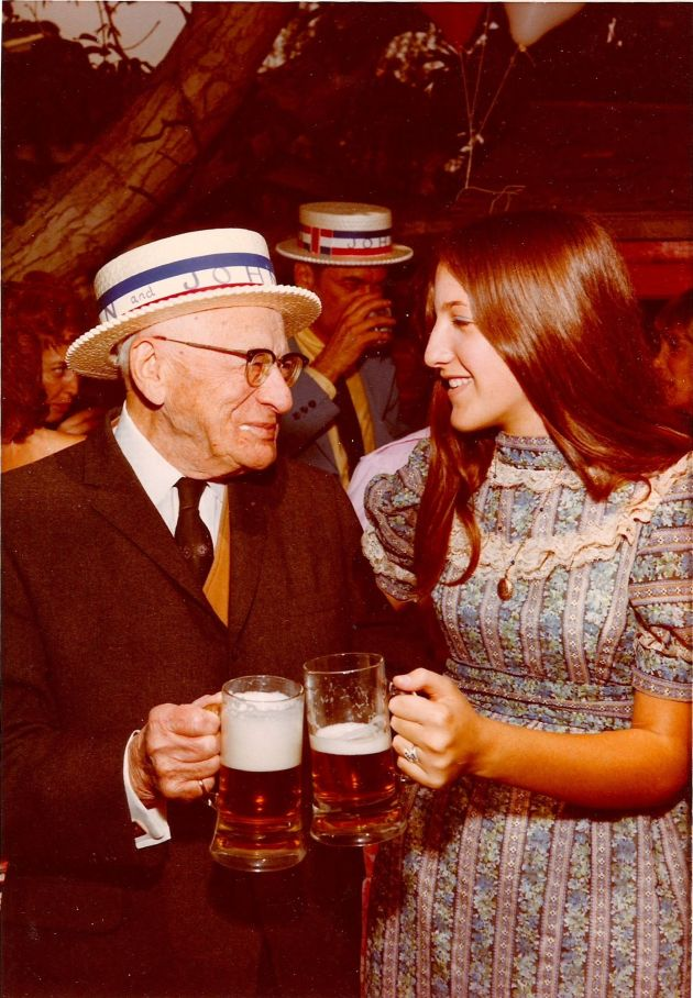 Great-Grandpa Turner with Nancy Weiss