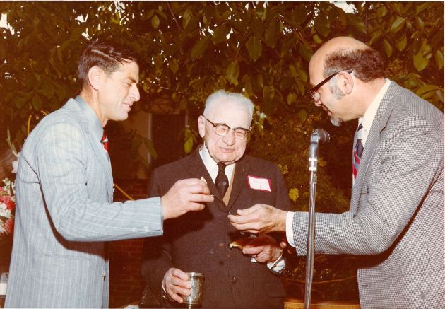 Dad with Great-Grandpa Turner and Cantor Samuel Brown