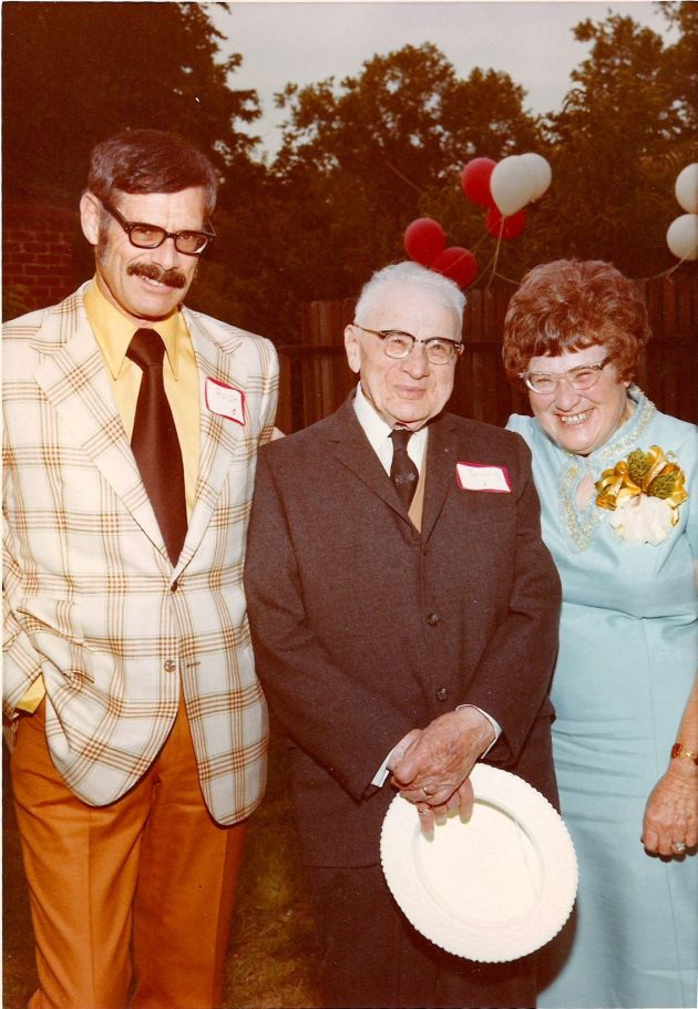 Grandma Lillian with her father and brother Ralph