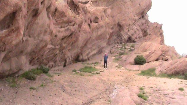 standing in front of Vasquez Rocks