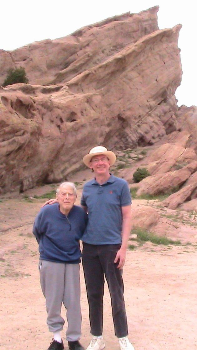 Dad and I in front of the Rocks.
