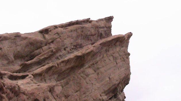One of the sharp edges of Vasquez Rocks