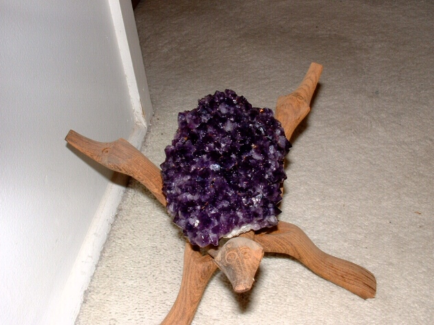 Amethyst arises from impurities of iron and manganese.