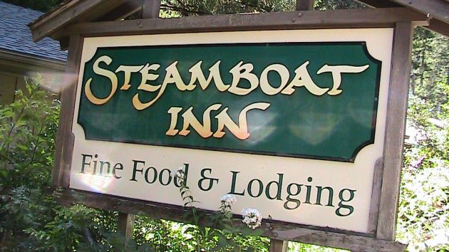 Sign Welcoming You To Steamboat Lodge.
